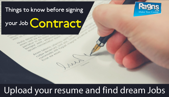 signing a job contract or bond